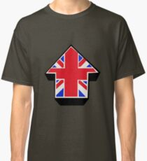 Red Blue White On Black Classic T-Shirt