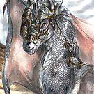 Silver dragoness by Furiarossa