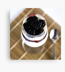 Yogurt with berries Canvas Print