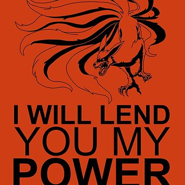 Kurama - I Will Lend You My Power [Black] || Gym Gear by yasashiikyojin