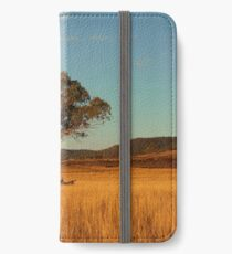 Country agricultural and farming field. iPhone Wallet/Case/Skin