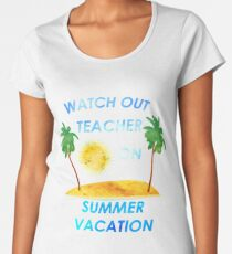 cc25f88c642f Summer Looks Good On This Teacher Men and Women T shirt Women s Premium T- Shirt