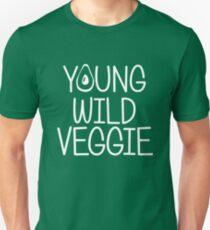 Young Wild Veggie Shirt Plant Powered Diet T-Shir Unisex T-Shirt