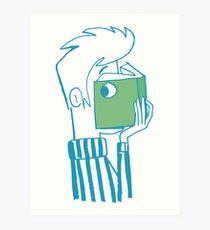 man who reading a book Art Print