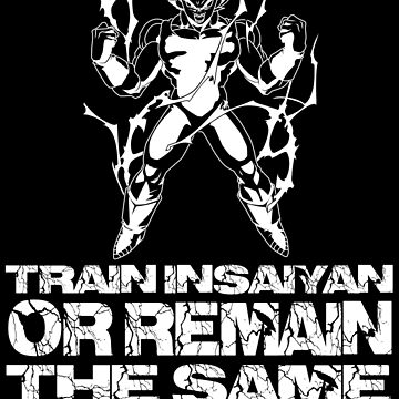 Train Insaiyan [White] || Gym Gear by yasashiikyojin