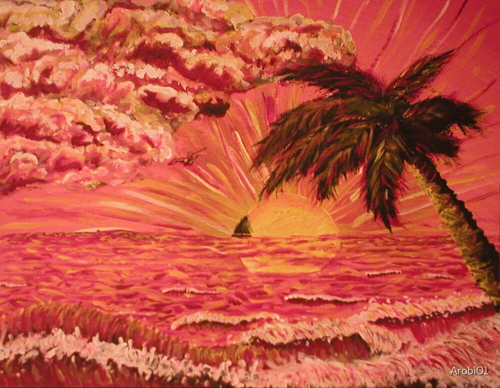 Ocean Sunrise #3 by Arobi01
