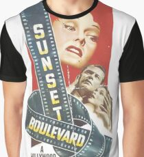 Sunset Boulevard - Film Noir Art Graphic T-Shirt