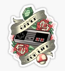 Gamer For Life Sticker