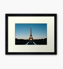 Eiffel Tower at Sunset Framed Print