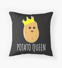 Potato Queen - Funny Potato Gift Throw Pillow