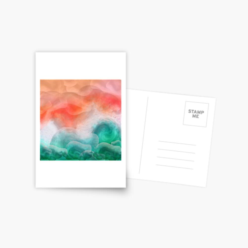 """Playa de arena coral y mar turquesa tropical"" Postal"