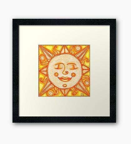 Gold Sun Framed Print