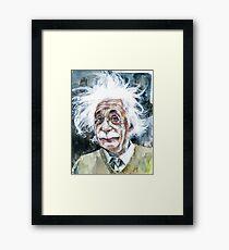 Lámina enmarcada ALBERT EINSTEIN - retrato de acuarela.15