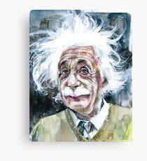 ALBERT EINSTEIN - watercolor portrait.15 Canvas Print