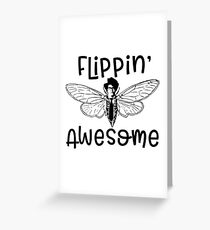 IT Crowd Inspired - Flipping Awesome Moth - Moss - 8 Bit Humor - Nerdy - Parody - British Sitcom - Geek Humor - It Greeting Card