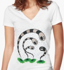 Worms & Discrimination Women's Fitted V-Neck T-Shirt