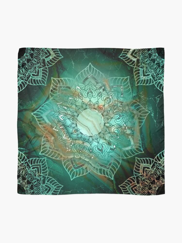 Alternative Ansicht von Wunderschönes Mandala - Türkisfarbene Kupfer- und Silbertöne Tuch