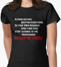 Think for yourself! Women's Fitted T-Shirt
