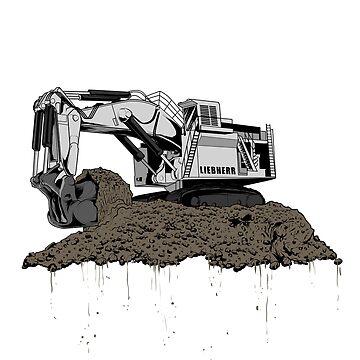 Excavator Liebherr by damnoverload