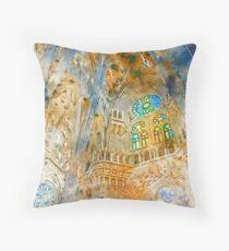 Barcelona, Sagrada Familia Throw Pillow