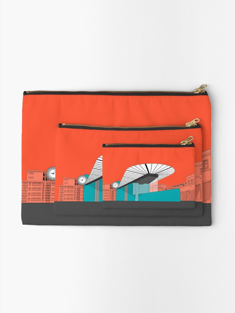 Alternate view of Turquoise Island Zipper Pouch
