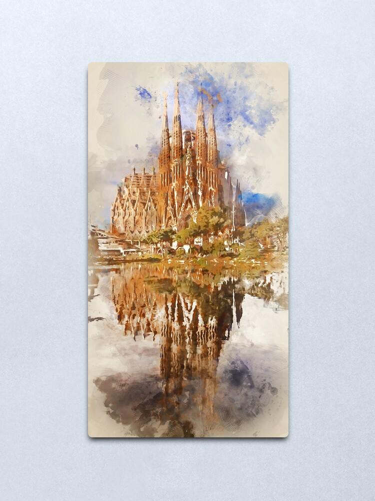 Alternate view of Barcelona, Sagrada Familia Metal Print