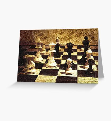 Chess Strategy   Greeting Card