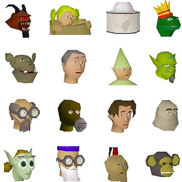 Oldschool Runescape Character Stickers by Sir-Jamus