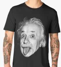 Albert Einstein showing his tounge Men's Premium T-Shirt