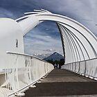 Te Rewa Rewa bridge with Mount Taranaki by Roger Neal
