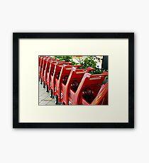 Mall Transportation Framed Print