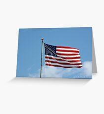 Beautiful Flag Greeting Card