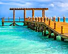 Deserted Caribbean Sea Pier - Playa del Carmen by Mark Tisdale