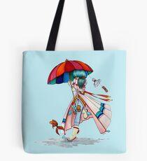 Umbrella Girl Tote Bag
