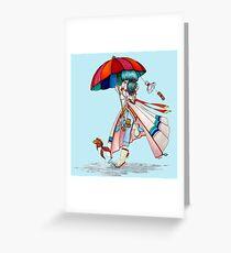 Umbrella Girl Greeting Card