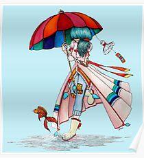 Umbrella Girl Poster