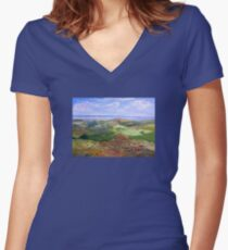 From Hancocks Lookout South Australia Women's Fitted V-Neck T-Shirt