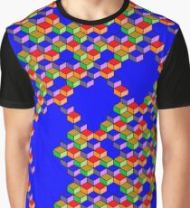 Three-dimensional cubes Graphic T-Shirt