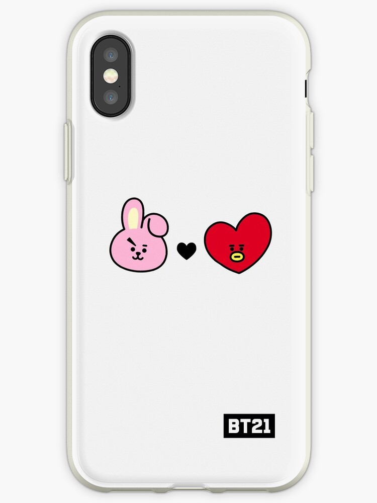 huge selection of ffc68 955a8 'BTS BT21 COOKY X TATA (Jungkook x V)' iPhone Case by oohfluff