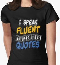 Movie Quotes Women's Fitted T-Shirt