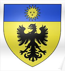 Póster French France Coat of Arms 6847 Blason Famille Claris