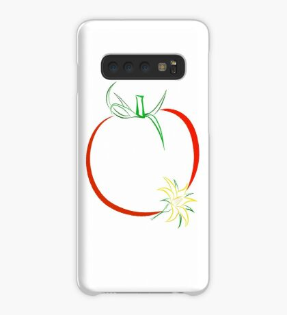 Colour outline of ripe tomato and tomato flower Case/Skin for Samsung Galaxy
