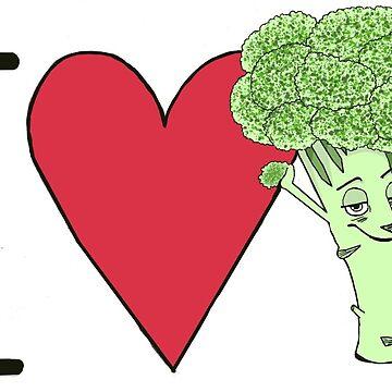 I love Broccoli by Nada-Nalani-Art