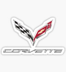 Corvette T shirt Logo Original Official  Sticker