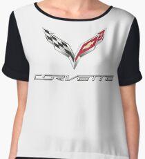 Corvette T shirt Logo Original Official  Chiffon Top