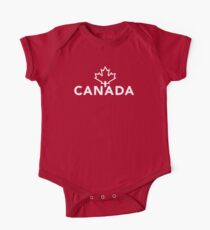 Canada with Maple Leaf One Piece - Short Sleeve