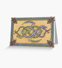 Celtic Infinity Dragons Greeting Card