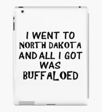 Buffaloed North Dakota iPad Case/Skin