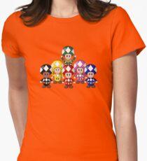 Power Ranger Toads - Super Mario Women's Fitted T-Shirt