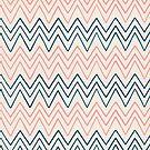 Pink & Navy-Blue Chevron Pattern by artonwear